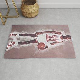 basketball player art 4 Rug