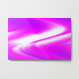 DREAM PATH (Purples, Fuchsias & White) Metal Print