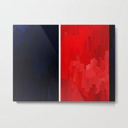 Blue Red  Metal Print