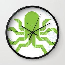 Origami Octopus Wall Clock