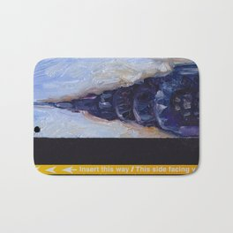 Subway Card Chrysler Building No. 9 Bath Mat