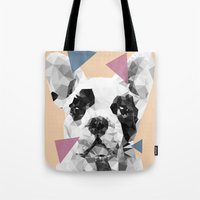 frenchie Tote Bags featuring Frenchie by Esco