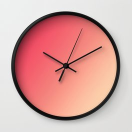 Mandarin Red - Gradients are the new colors Wall Clock