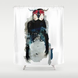 Poor Impulse Control Great Minded Brained Twins Shower Curtain
