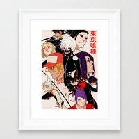 tokyo ghoul Framed Art Prints featuring Tokyo Ghoul by Kovvu