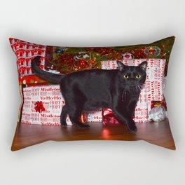 Christmas Kitten Rectangular Pillow