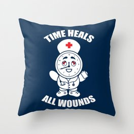 Time Heals All Wounds Throw Pillow