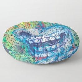 Mayan Skull Floor Pillow