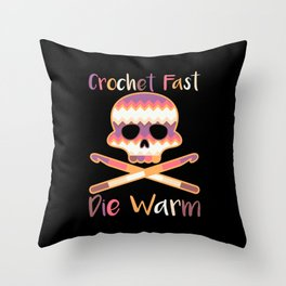 Crocheting - Crochet Fast Die Warm Throw Pillow