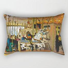 Carousel Magic - Merry-go-Round Rectangular Pillow