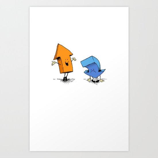 up n down show (alternate version) Art Print