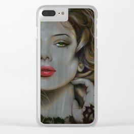 'Golden Utopia' Clear iPhone Case