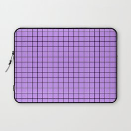 Lilac with Black Grid Laptop Sleeve