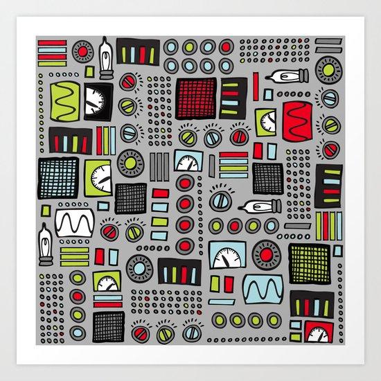 Robot Controls Art Print
