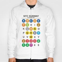 NYC metro, New York City alphabet map, NY underground poster, subway print, Massimo Vignelli Hoody