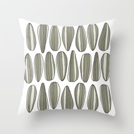 sunflower seeds Throw Pillow