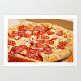 Delicious Pizza Art Print