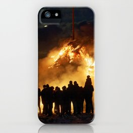 Easter full moon - the winter is over iPhone Case