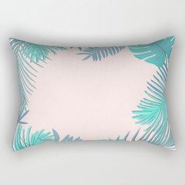 BLUSH AND TEAL TROPICAL Rectangular Pillow