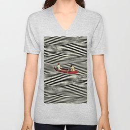 Illusionary Boat Ride Unisex V-Neck