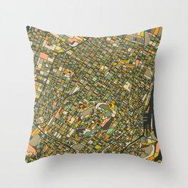 MONTREAL MAP Throw Pillow