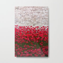 Tower Poppies 04B Metal Print