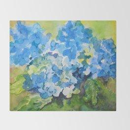 Blue Hydrangeas Throw Blanket