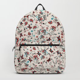 Folky Floral Print Backpack