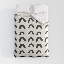 Black Brushstroke Scandinavian Design Comforters