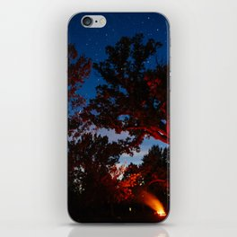Camping with Coyotes iPhone Skin