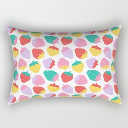 Minimalist Scandinavian Strawberries in White Rectangular Pillow