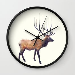 Elk // Reflect (Right) Wall Clock