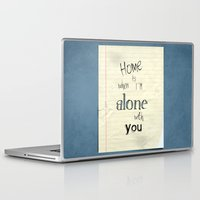 home sweet home Laptop & iPad Skins featuring Home by Brandy Coleman Ford