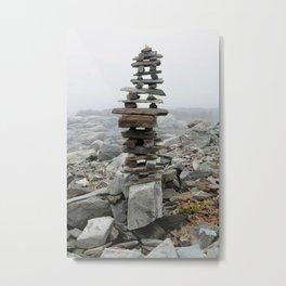 Maine Cairn Metal Print