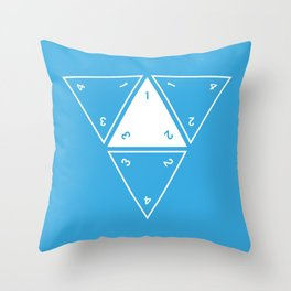 Unrolled D4 Throw Pillow