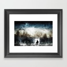 City Thoughts Framed Art Print