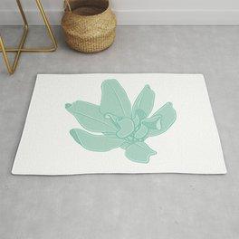 Simple Greenery Illustration Rug