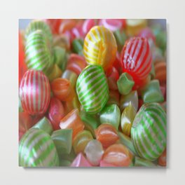 Multi-Colored Striped Candy Metal Print