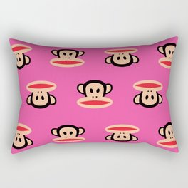 Julius Monkey Pattern by Paul Frank - Pink Rectangular Pillow