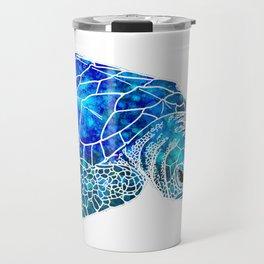 Sea Turtle Watercolor Art Travel Mug