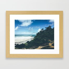 Trees meets the Waves Framed Art Print