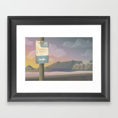 49 Miles of Awesome Framed Art Print
