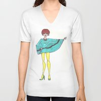 mod V-neck T-shirts featuring Mod. by A.S.M Designs