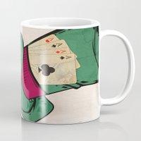 poker Mugs featuring Poker Face by Ewan Arnolda