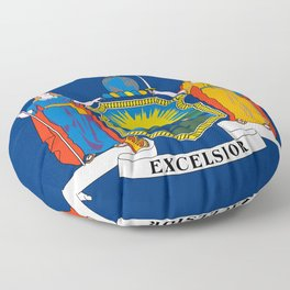 New York State Flag Floor Pillow