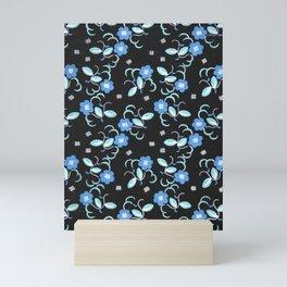 Vintage Floral Fabric Design by Paul Poiret, 1920s Mini Art Print