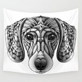 Ornate Dachshund Wall Tapestry