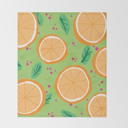 Orange You Cute Throw Blanket