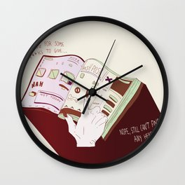 None To Give Wall Clock