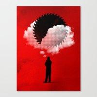 bad idea Canvas Prints featuring Bad Idea by rob dobi